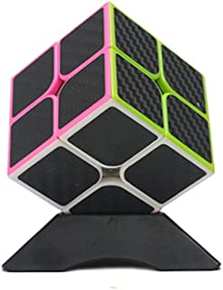 Wings of wind - Carbon Fiber Stickers Magic Cube Ultra-Smooth Magic Puzzle Cube Colorized Sticker Cube (2x2)