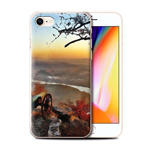 Telefoonhoesje voor Apple iPhone SE 2020 Herfst Mode Chattanooga Schilderij Ontwerp Transparant Helder Ultra Slank Dun Hard Back Cover