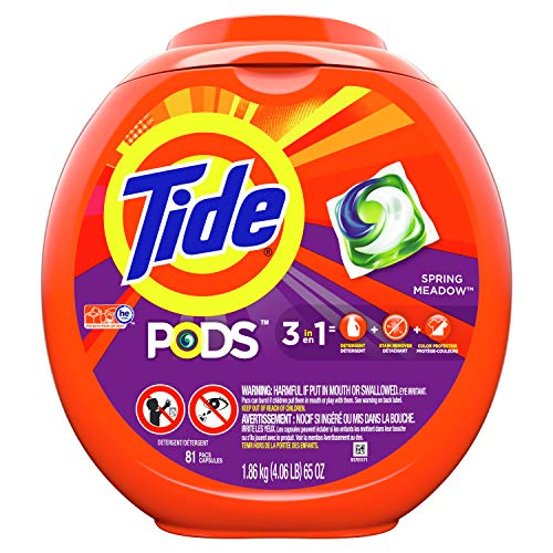 Tide Pods 3 in 1, Laundry Detergent Pacs, Spring Meadow Scent, 81...