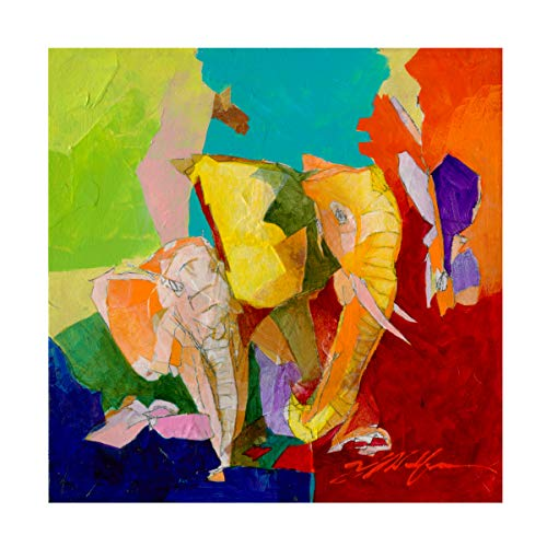 Trademark Fine Art Elephant and The Butterfly IV by Yuval Wolfson, 14x14, Multiple