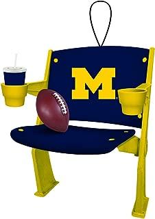 Team Sports America Michigan Wolverines Stadium Chair Ornament