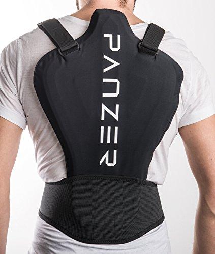 PANZER Rückenprotektor BackShieldOne | Für Motorrad, Ski & Snowboard |sehr leicht | Anpassung durch Körperwärme (L)