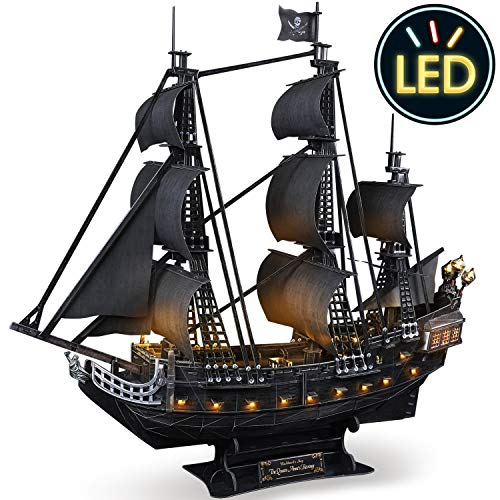 3D Puzzle for Adults LED Pirate Ship