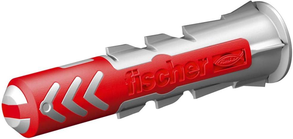 fischer 555108 DUOPOWER Wallplug Shipping included 8x40 Red Schraube 5 Gray Sale SALE% OFF mit