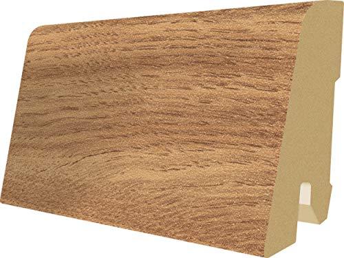 EGGER Home Sockelleiste braun L150 Fußleiste | Bodenleiste 2,4m passt zu EHL022 Garrison Eiche natur