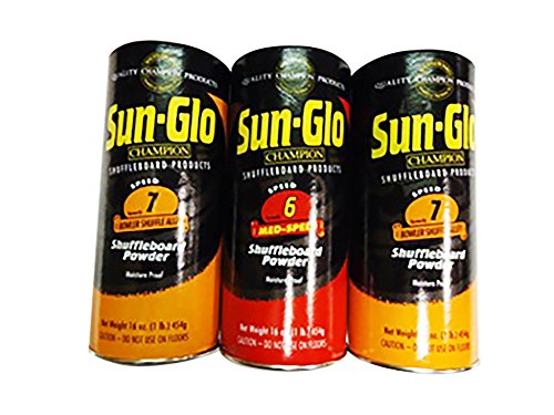 Great Deal! Sun-Glo Slow Speed Shuffleboard Wax - 3 Pack