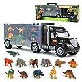 Akokie Dinosaur Toys Truck Transport Carrier Truck Toys with Dinosaur Toys Animals Toys 12 Pcs Double Inside Storage Set for Kids Boys Girls 3 Years Old by GrasshopperToys Ltd