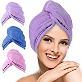 Hair Towel Wrap,UMUM 3 Pack Magic Instant Dry Hair...