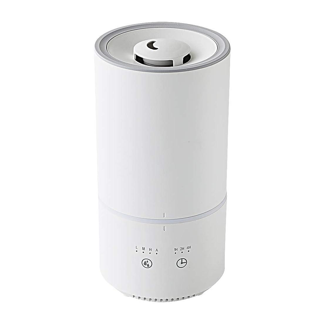 どこでも求人目を覚ますキシマ(Kishima) 卓上 加湿器 上から給水 1L 200ml/h アロマ対応 超音波 LEDライト ミスト調整 スリムタイプ ホワイト