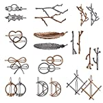 Beauty Shopping 24 Pieces Minimalist Dainty Hair Clip for Women, Tree Branch Gold Silver Metal Hair