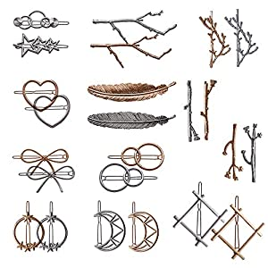 Beauty Shopping 24 Pieces Minimalist Dainty Hair Clip for Women, Tree Branch