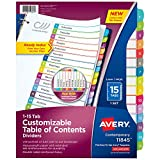 Avery 15-tab Dividers for 3 Ring Binders,...