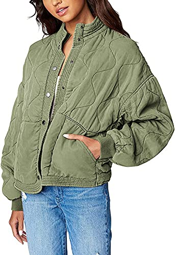 [BLANKNYC] Women's QUILTED JACKET Outerwear, -Burnt Sage, S