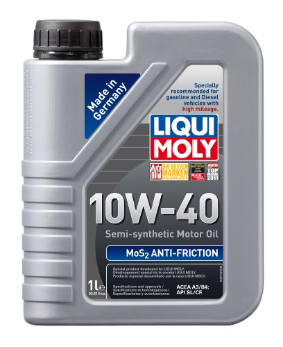 Liqui Moly 2042 MoS2 Anti-Friction 10W-40 Motor Oil - 1 Liter Bottle