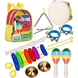 Musicali Giocattolo Strumenti Set per Bambini – Smarkids Giocattolo Musicale a Percussione per