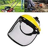 FreeLeben Visera Facial, Cortadora de Césped de Jardín Escudo facial Casco Sombrero Protección Protección Ocular Visor de Cubierta Facial