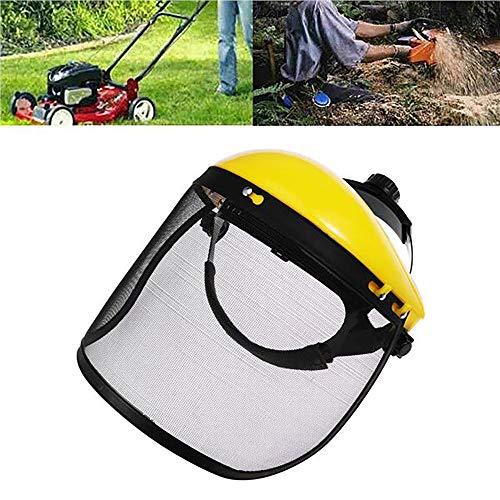 FreeLeben Gesichtsmaske, Gartengrasschneider Gesichtsschutzhelm Hutschutz Augenschutz Gesichtsschutzmaske