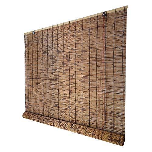 XZP Bambú persianas de Rodillo de Cortina Veneciana Cortinas Romanas Persianas Rural Repelente de…