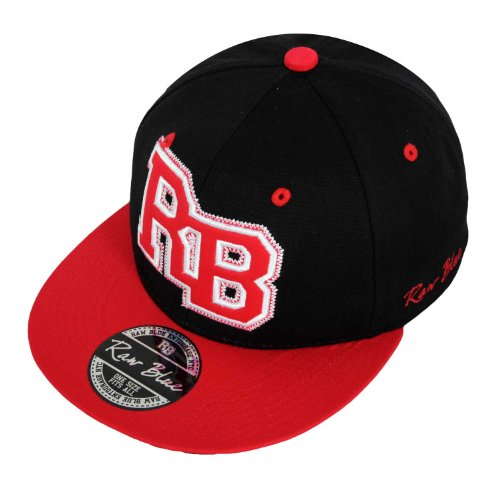 Raw Blue RB-Letterpatch-Snapback in Black/Red