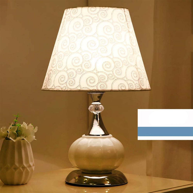 NachttischlampeNachttischleuchte  Tischlampe Schreibtischlampe für Schlafzimmer,Wohnzimmer,Arbeitszimmer,Office Europisches modernes minimalistceramic 27  43cm,A-4