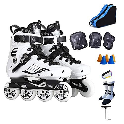 For Sale! YUMEIGE Roller Skates Inline Skates Adult,Full-meat Solid PU Wheel、Laser Engraving Two...