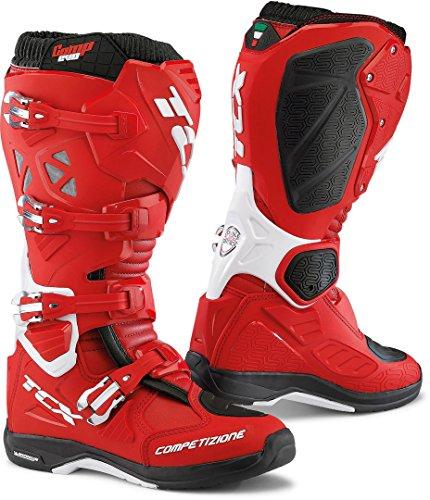 9662 - TCX Comp Evo 2 Michelin Motocross Boots 45 Red White (UK 10)