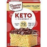 Duncan Hines Keto Friendly Classic Yellow Cake Mix, Gluten Free, Zero Sugar Added, 10.6 oz.