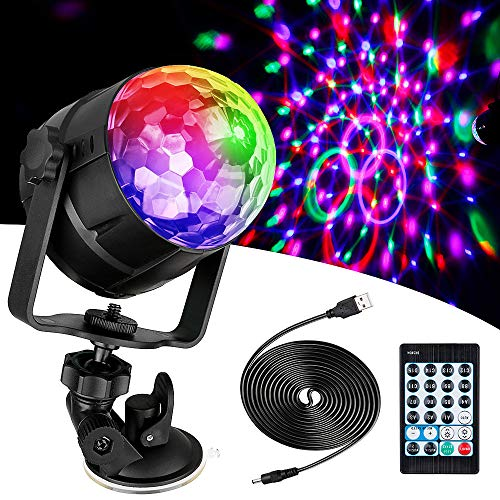 Anpro 15 Colores Luces Discoteca Giratoria