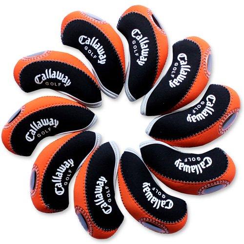 Callaway golf Schlägerkopfhüllen Golf Eisen deckt Eisenhauben 10pcs/set MT/C08 schwarz/orange