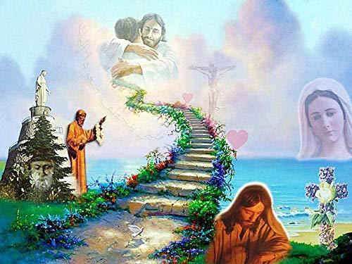 Volwassen Kinderen Puzzel Klassiek Creatief Houten Spel Woondecoratie Speelgoed Ladder Jezus Puzzels En Uitdagingen Legpuzzel - 1000 Stukjes