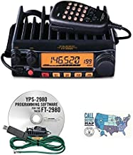 Radio and Accessory Bundle - 3 Items - Includes Yaesu FT-2980R 80W FM 2M Mobile Transceiver, RT Systems Programming Software/Cable Kit and Ham Guides TM Quick Reference Card