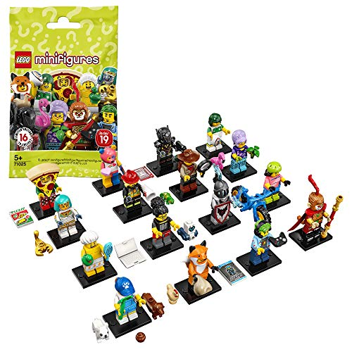 LEGO 71025 Minifiguren Serie 19, Bauset, Mehrfarbig, 24 Juguetes
