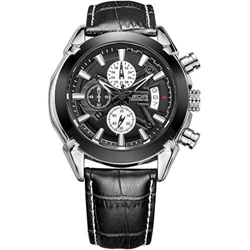 LULI S & Second Pointer Reloj de Cintura con Banda de Cuero y función de visualización de Calendario…