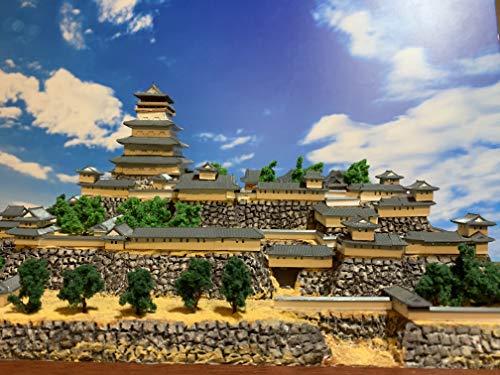 日本100名城 よみがえる 津山城 お城 模型 ジオラマ完成品 A4