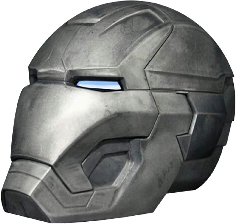 venta mundialmente famosa en línea MI ER- Iron Iron Iron Man All Metal 1  1 Casco de Control Remoto, usable Tony Estrellak Mark 42 MásCochea de CosJugar MK43 Accesorios LED Light Eyes - Pantalla  autorización oficial