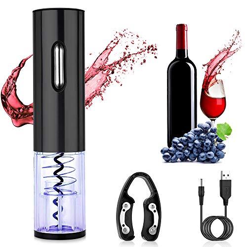 ASANMU Cavatappi elettrico, apribottiglie elettrico con cavo di ricarica USB, tagliacapsule elettrico tagliacapsule per vino, set di cavatappi automatico per esterni, cucina