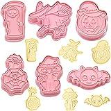 Set di 6 stampi per biscotti per bambini, cappello da strega, fantasma, caramelle, pipistrello, gatto, biscotti DIY Halloween Decorazioni Accessori da Cucina