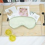 Silk Sleeping Mask, Natural Silk Eye Mask, Silk Sleep Mask for Women and Man, Girls Sleep Mask, Soft and Comfortable, Fully Adjustable (Matcha Green)