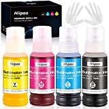 Hiipoo Sublimation Ink for EcoTank Supertank Inkjet Printers ET-2720 ET-2760 ET-3760 ET-4700 ET-7710 ET-7720 ET-15000 L3110 L3150 Heat Press Transfer on T-Shirt Mug Mask (Autofill/ICC-Free/Anti-UV)