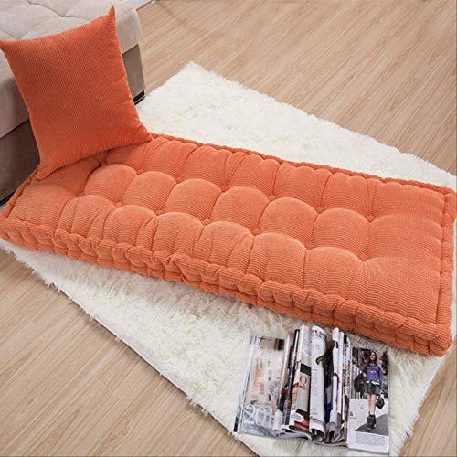 tonywu Garden Bench Cushion Cojín de Asiento de 2 plazas Cojín de algodón 100% Grueso para Comedor Banco Interior y Exterior 40x110cm Naranja-5