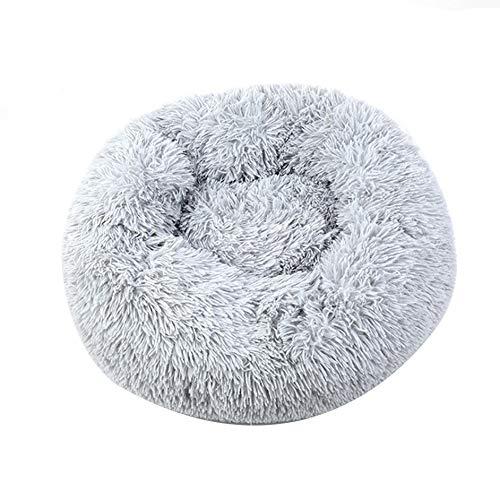 SENZHILINLIGHT Super suave cama para mascotas perro redondo perrera gato invierno caliente saco de dormir largo felpa cachorro cojín Mat portátil gato suministros