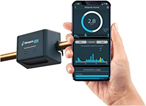 StreamLabs Smart Home Water Monitor Leak Detector with Wi-Fi – No Pipe Cutting, 5-Minute Install, Real-Time Phone Alerts – Fits 3/4