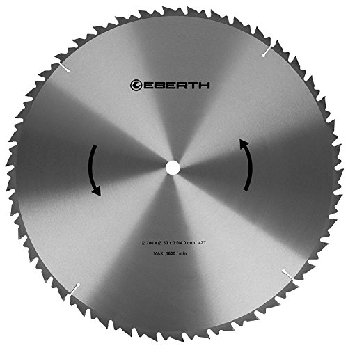 EBERTH Hartmetall-Kreissägeblatt für Holzschnitte (700 x 4,0 x 30 mm, 42 Zähne, lange Lebensdauer)