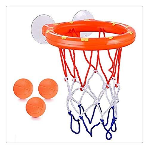 Hbao Baño para niños pequeños Juguetes de Agua Bañera Tiro aro de Baloncesto con 3 Bolas Juguete de baño para bebés Juego de Juegos al Aire Libre para niños