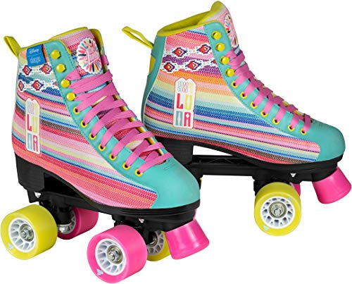 Disney Soy Luna LTD Edition Rollschuhe Rollerskates Kinder Rosa Pink Kids Mädchen Skates Inline Rollerblade (37)