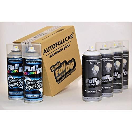 AutoFullCar - Pack Sprays Full Dip Blanco Super Brillo Vinilo líquido   FullDip
