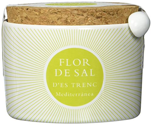 Gusto Mundial Flor de Sal d'Es Trenc Mediterranea Salz 100g | unbehandeltes, naturbelassenes Meersalz aus Mallorca | Mit mediterranen Kräutern