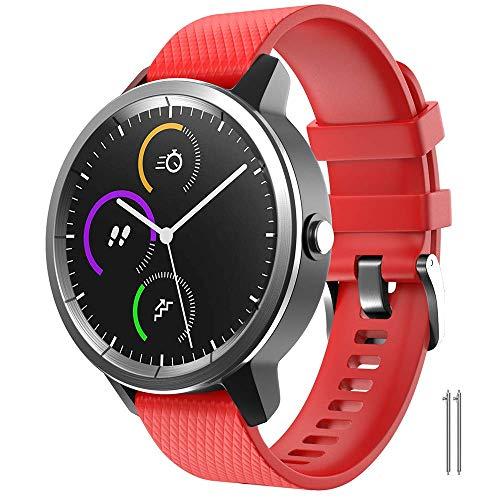 ANBEST compatible con Garmin Vivoactive 3 /Venu/Move 3/Forerunner 645/245 Watch pulsera, 20 mm suave de silicona Ersatzband Uhrenarmband para Samsung Galaxy Watch 42 mm/Gear Sport/Gizmo Smart Watch