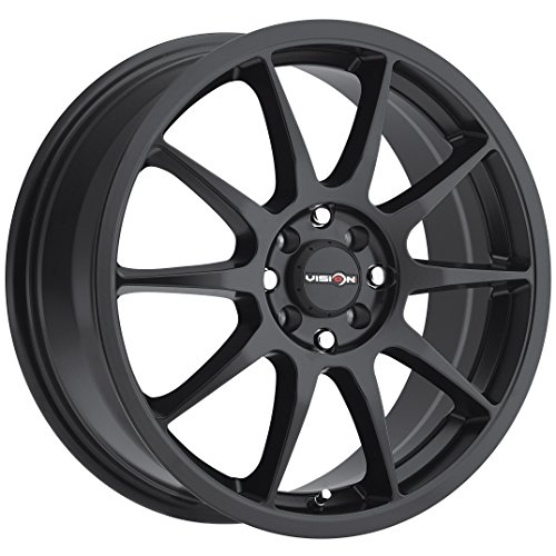 Vision Venom 15 Black Wheel / Rim 4x100 & 4x4.25 with a 38mm Offset and a 73.1 Hub Bore. Partnumber 425-5601MB38