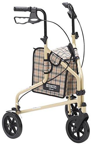 Drive Medical Winnie Lite Supreme Aluminum Three Wheel Rollator, Tan Plaid